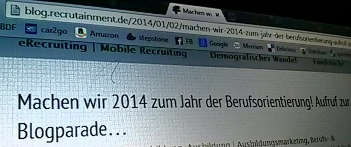 Recrutainment  Blog Blogparade Berufsorientierung