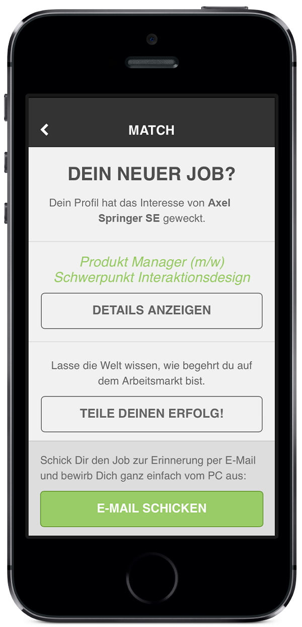 It's a match -truffls - tinder für Jobs